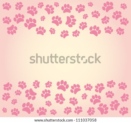 background animal footprints. vector illustration - stock vector