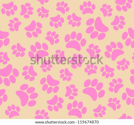 background animal footprints vector illustration - stock vector