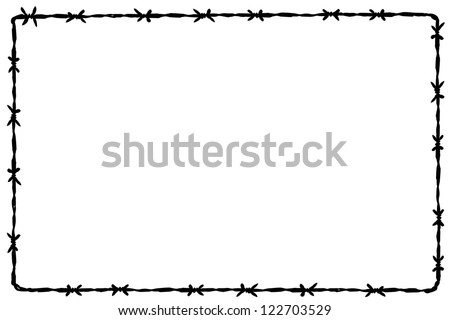 Background Barbed Wire Stock Vector 122703529 - Shutterstock
