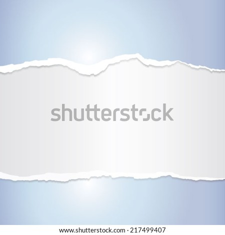 Background blue torn paper.Eps 10 vector file.