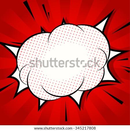 Background. Boom comic book explosion - stock vector