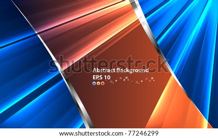 Background card with pattern ray - stock vector