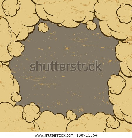 Background clouds, vector illustration - stock vector