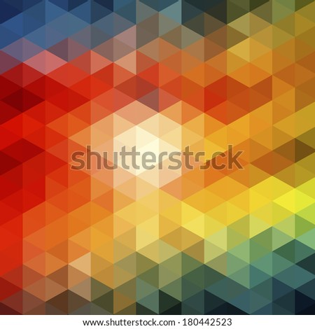 background colored triangles