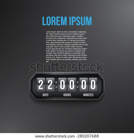 Background Coming Soon and countdown timer. Vector Illustration isolated on white background. - stock vector