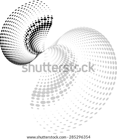 Background Composition, Web Template (Halftone) Vector Art - stock vector