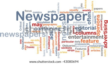 Background concept illustration of newspaper news paper