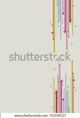 Background decor lateral - stock vector