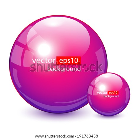 Background design, 3d purple spheres