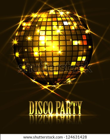 background disco party - stock vector