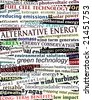 Background editable vector illustration of alternative energy newspaper headlines - stock photo