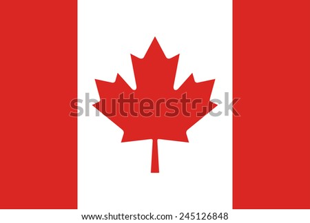 Background Flag of Canada - stock vector