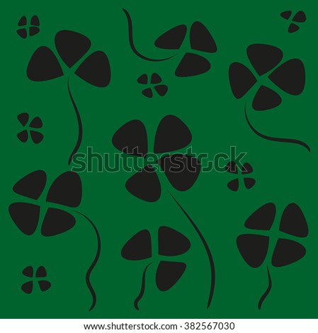 Background. Flower Design. Logo or symbol. Nature. Vector. Cloverleaf - stock vector