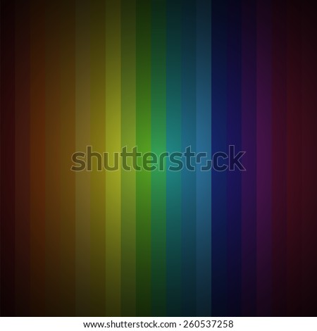 Background for bright postcards and badges. Gradient spectrum of  all rainbow colors: red, orange, yellow, green, blue, indigo, violet. Widescreen vector gradient vertical rectangles. - stock vector