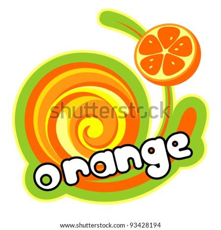 Background for design of packing. Orange. Vector illustration. - stock vector