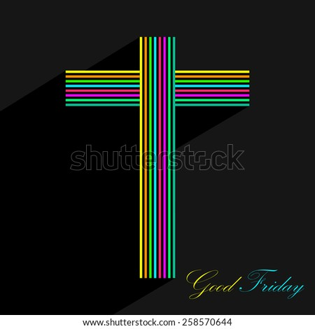 background for good Friday design. - stock vector