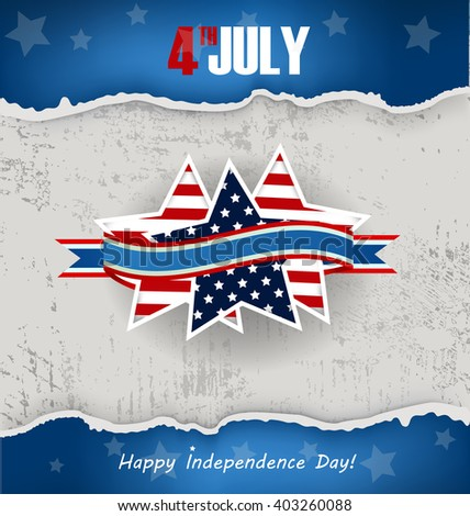 background for Independence Day, Memorial Day - stock vector