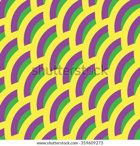 Background for Mardi gras. Yellow, green, purple abstract pattern.