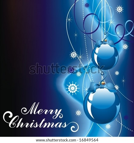 background for new year and for Christmas - stock vector