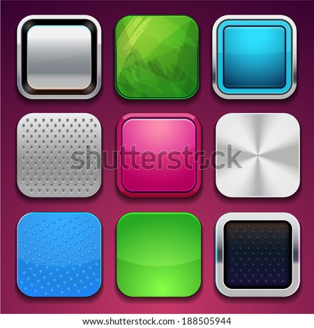 background for the app icons (vector frame) - stock vector