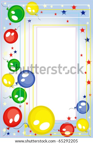 Background -frame with balloons