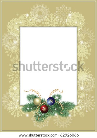 Background-frame with snowflakes - stock vector