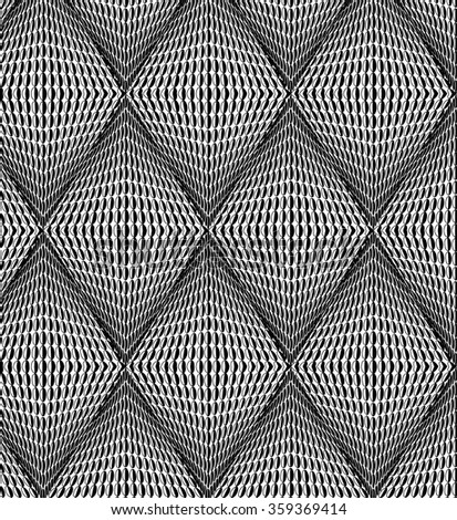 Background from black-and-white rhombs - stock vector