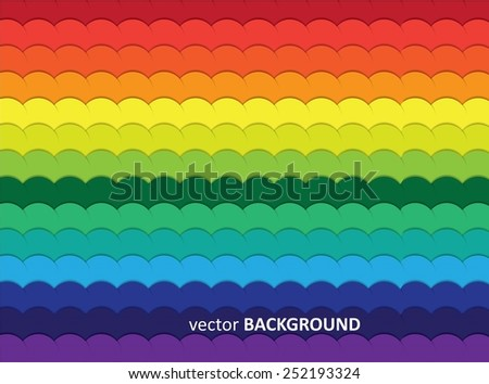 Background from colorful circles with shadows, vector art, EPS10 - stock vector