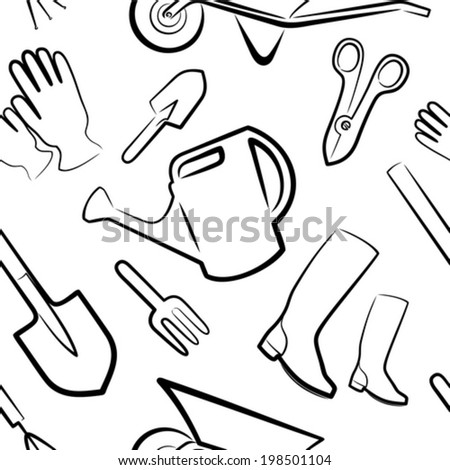 background from gardening tools