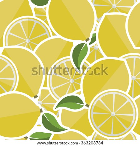 Background from lemons. Vector illustration.