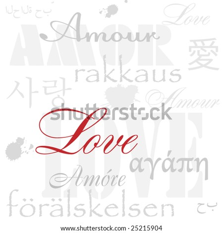 background from love words. - stock vector