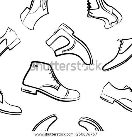 Background from men's shoes and boots