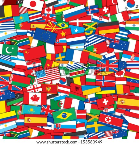 Background various world flags eps 10 vector stock vector royalty background from various world flags eps10 vector design template freerunsca Image collections