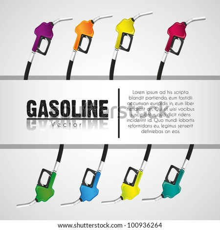 background gas pumps stripe on white background for text - stock vector