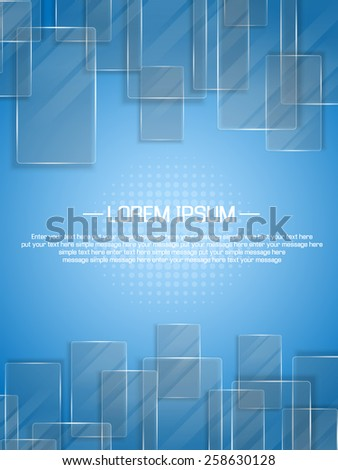 BACKGROUND GLASS - stock vector