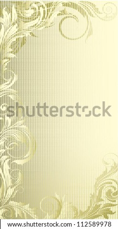 Background gold.Retro shining golden ornamental frame label design.