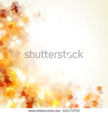 Background group autumn orange leaves. And also includes EPS 10 vector - stock vector