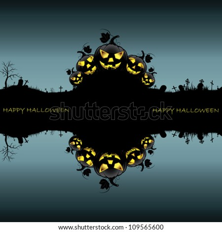 Background halloween night - stock vector
