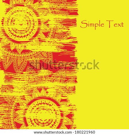 background in ethnic style - stock vector