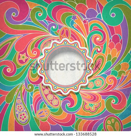 Background in retro style - stock vector