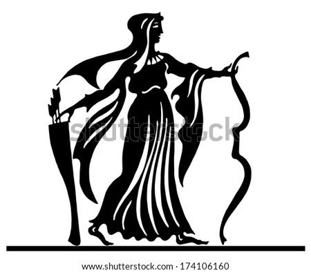 Background in the Greek style  - stock vector