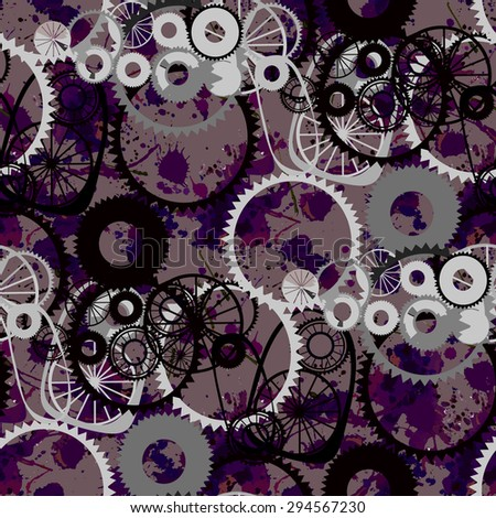 Background in the style of steampunk. Seamless. - stock vector
