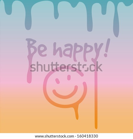 Background. Inscription on misted window. - stock vector