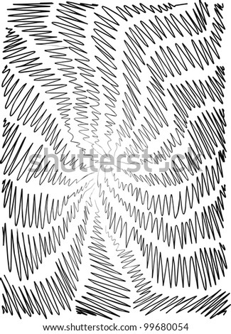 background is hand-painted, graphic, children, black and white - stock vector