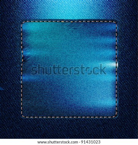 Background jeans - stock vector