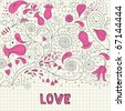 background love - stock vector