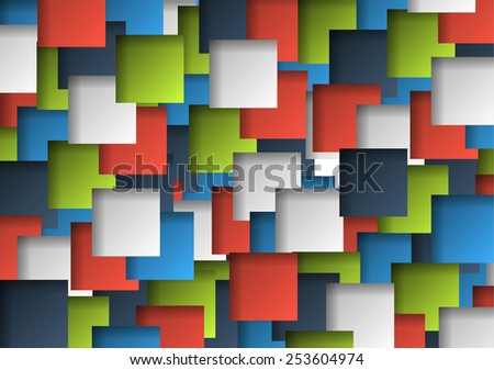 Background made of colorful 3d gradient squares - stock vector