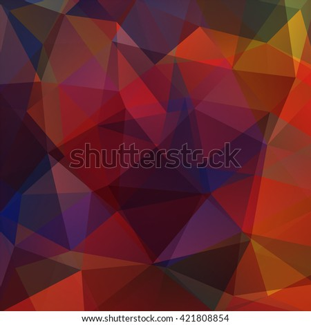 Background made of triangles. Square composition with geometric shapes. Eps 10 Brown, red, orange, purple colors.  - stock vector