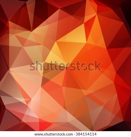 Background made of triangles. Square composition with geometric shapes. Eps 10. Orange, red, brown colors.  - stock vector