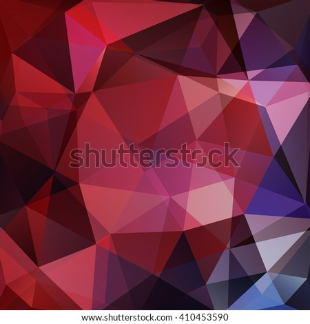 Background made of triangles. Square composition with geometric shapes. Eps 10 Red, black, brown colors.  - stock vector